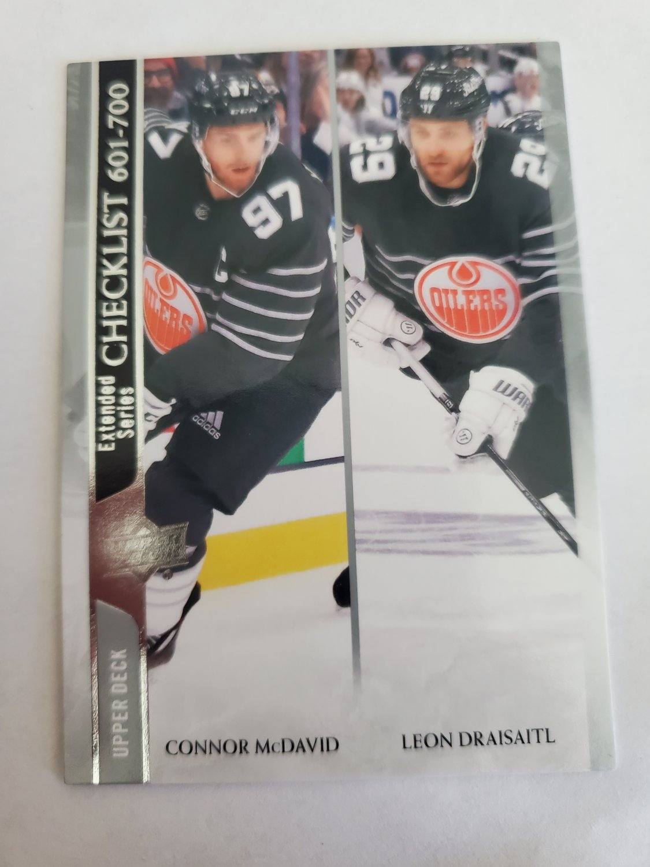 Connor McDavid & Leon Draisaitl 2020-21 Upper Deck CL Base Card