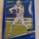 Carson Wentz 2021 Donruss Press Proof Blue Insert Card