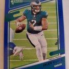 Jalen Hurts 2021 Donruss Press Proof Blue Insert Card