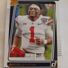 Justin Fields 2021 Donruss Rated Rookie Portrait Rookie Card