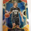 Cole Anthony 2020-21 Select Prizms Red White Orange Shimmer Rookie Card