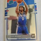 Tyrese Maxey 2020-21 Optic Rookie Card Card