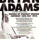 Bryan Adams Wembley Stadium rare genuine vintage advert 1992