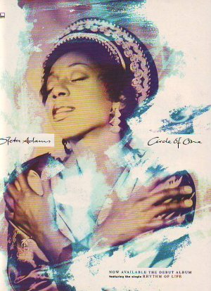 Oleta Adams Circle Of One genuine rare vintage advert 1990