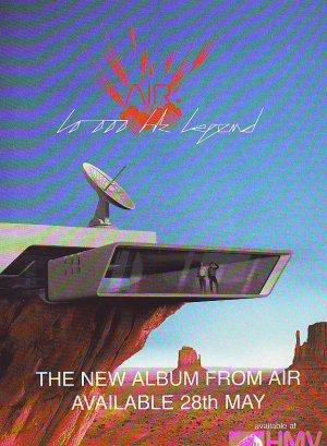 Air 10,000 Hz Legend rare vintage advert 2001