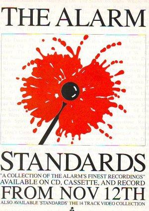 The Alarm Standards rare vintage advert 1990