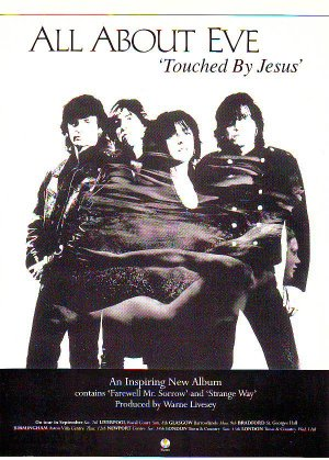 All About Eve - Touched By Jesus rare vintage advert 1991
