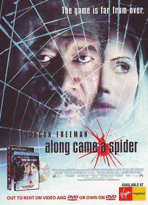 Along Came A Spider - Morgan Freeman rare vintage advert 1993