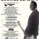 George Benson - UK Tour - rare vintage advert
