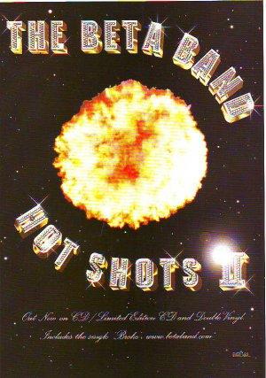 Beta Band - Hot Shots 2 - rare vintage advert 2001