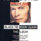 David Bowie - Black Tie White Noise - rare vintage advert 1993