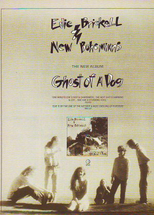Edie Brickell & The New Bohemians - Ghost Of A Dog - rare vintage advert 1990