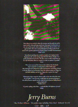 Jerry Burns - rare vintage advert 1992