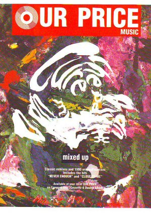 The Cure - Mixed Up - rare vintage advert 1990