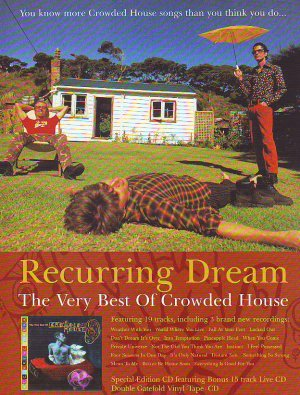 Crowded House - Recurring Dream - rare vintage advert 1996