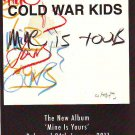 Cold War Kids - Mine Is Yours  - rare advert 2011