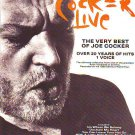 Joe Cocker - Live - rare vintage advert 1990