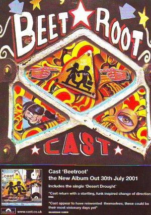 Cast - Beetroot - rare vintage advert 2001