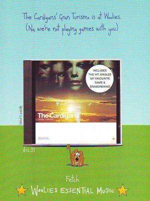 The Cardigans - Gran Turismo - rare vintage advert 1998