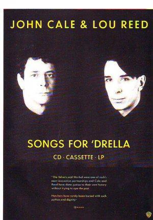 John Cale & Lou Reed - Songs For Drella - rare vintage advert 1990