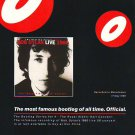 Bob Dylan - Live 1966 - rare vintage advert 1998