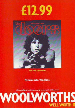 The Doors - Best Of - rare vintage advert