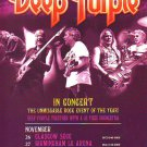 Deep Purple - UK Tour - rare vintage advert 2010
