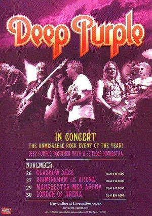 Deep Purple - UK Tour - rare vintage advert 2010