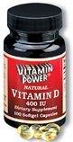 Vitamin D Softgel Capsules-400 IU-100 Ct  (#1044R)