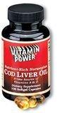 Finest-Grade, Norwegian Cod Liver Oil Softgel Capsules--100 Ct  (#302R)