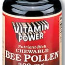 Chewable Bee Pollen  500 mg Tabs--100 Ct  (#1079R)