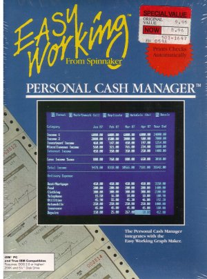 Easy Working from Spinnaker Personal Cash Manager