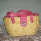 Straw basket purse
