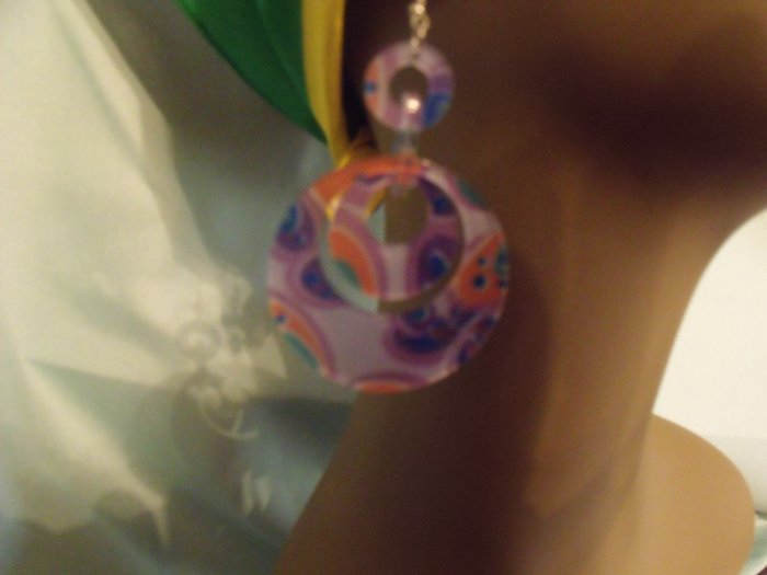 Putple earrings