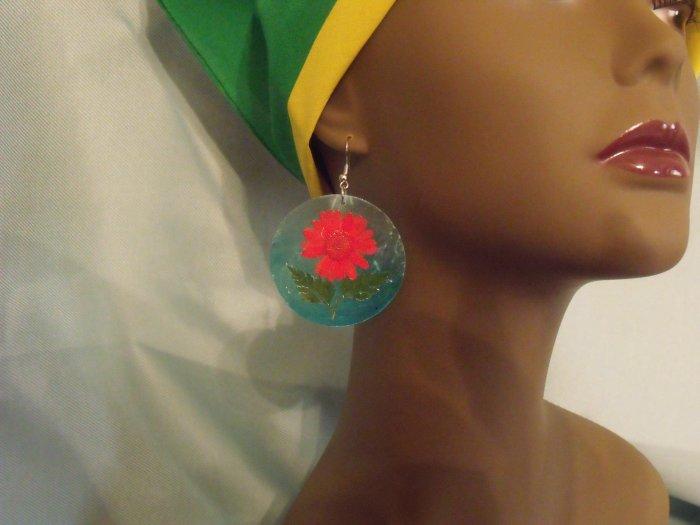 Flowered  earrings