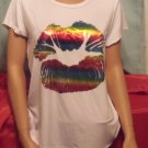 T-shirts with rainbow lips