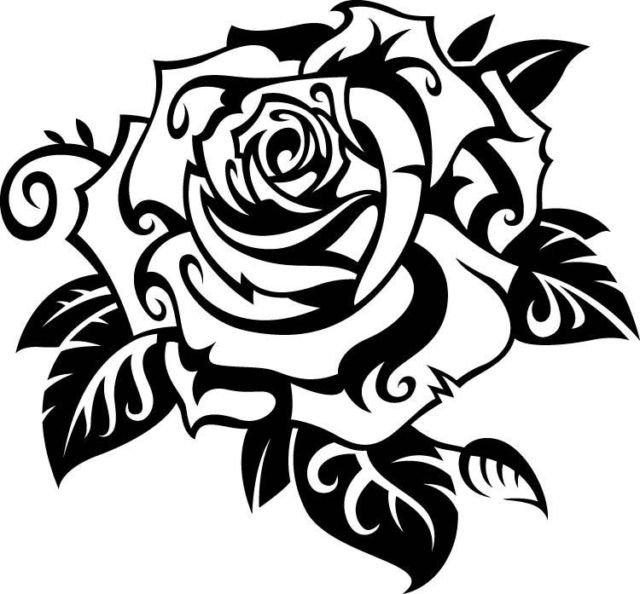 Rose Flower Vinyl Decal Sticker