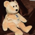 Ty Beanie Babie Light Tan Bear Texas Blue Bonnet Flower Emblem