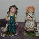 * Vintage Boy and girl Farm Figurines - good old days