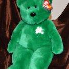 "Ty Beanie Buddy Buddie Bear Erin - 15"" Bear Shamrock Green Color"