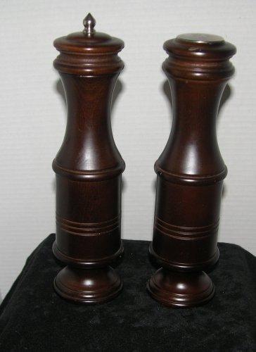 Large Wood Carved Salt Shaker and Pepper Grinder (verity)