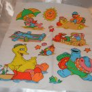 "Sesame Street Summer Fun At the Beach Cotton Fabric Square Material 14"" x 17"""
