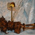 * Obscure Oddity Odd some kind of Pine cone Brass Mailbox decor ART