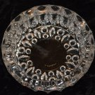 KIG Crystal Glass Bubbled Ashtray Candy Dish Indonesia Solid