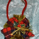 Dashing through the Snow ...Bough of Holly & Brass Bell Music Christmas Ornament