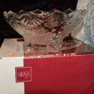 Beautiful Mikasa Crystal Snowflake 3 footed Bowl Christmas Decor - No BOX