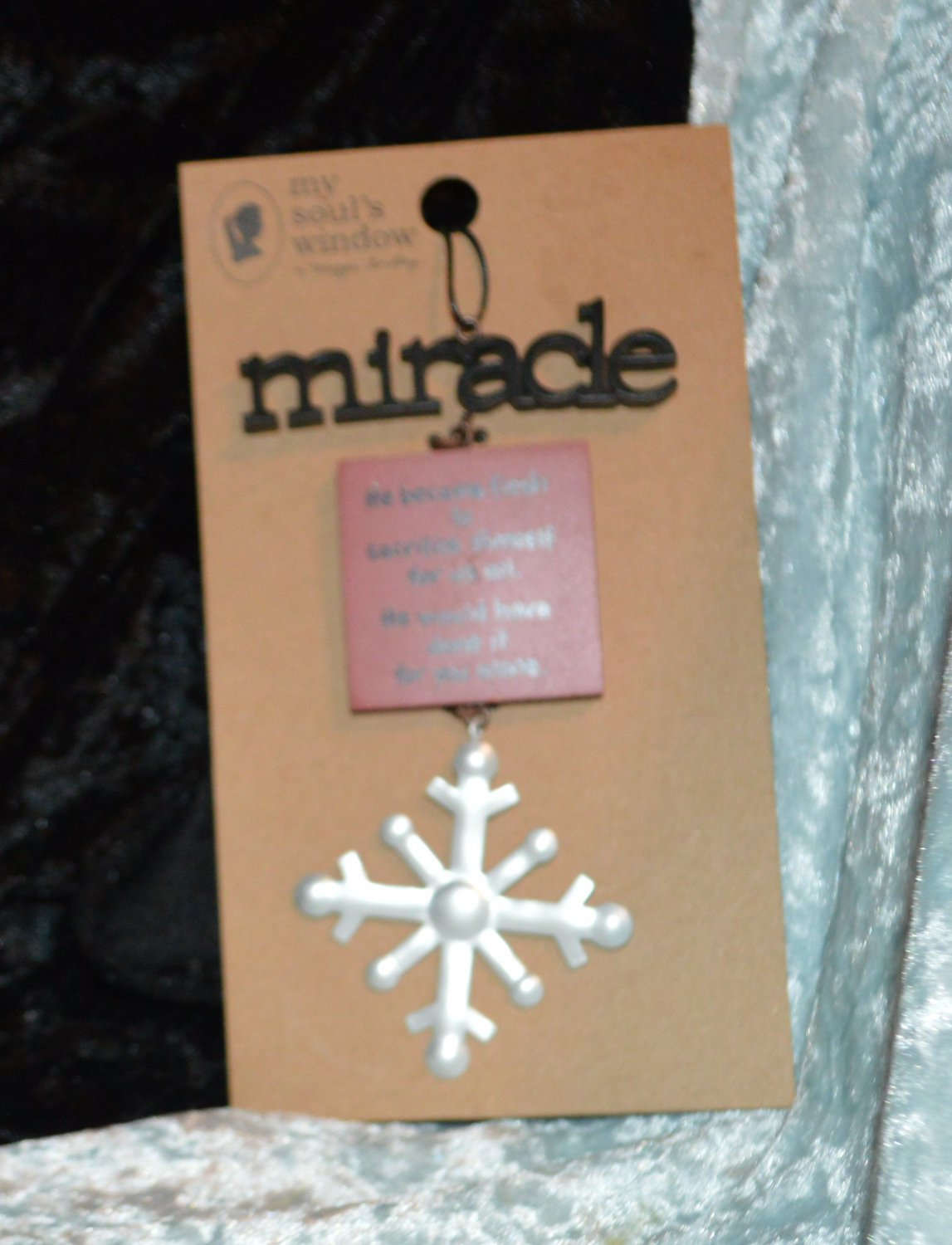My Soul's Window Miracle Snowflake Ornament NEW