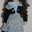 School Girl Porcelain Doll - All Pretty in Blue w/ Stand - Fire Sale