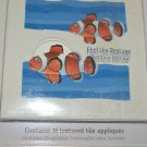 Orange Clown Fish Trading Spaces design TLC contain 16 Textured appliqués