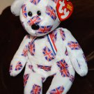 Ty International Beanie Baby Bear Jack UK United Kingdom England Mint with Tags